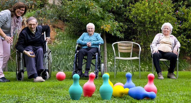Activitat a l'aire lliure per a gent gran