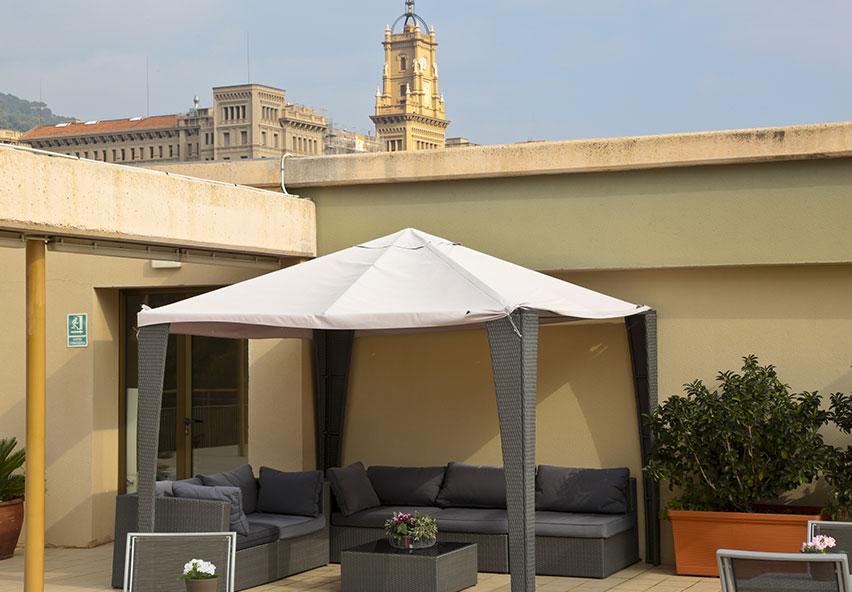 Terrasa amb mobiliari