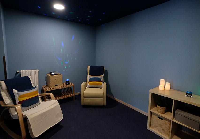 sala d'estimulació multisensorial snoezelen residència gent gran